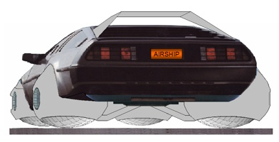 airship-delorean
